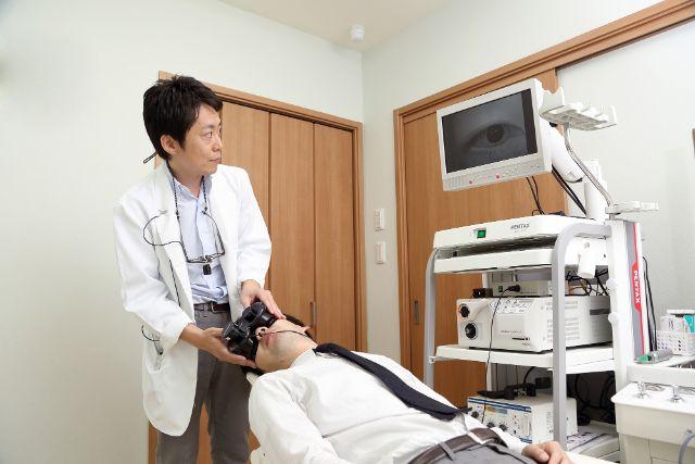 赤外線CCD眼振検査装置